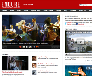 Encore Magazine website
